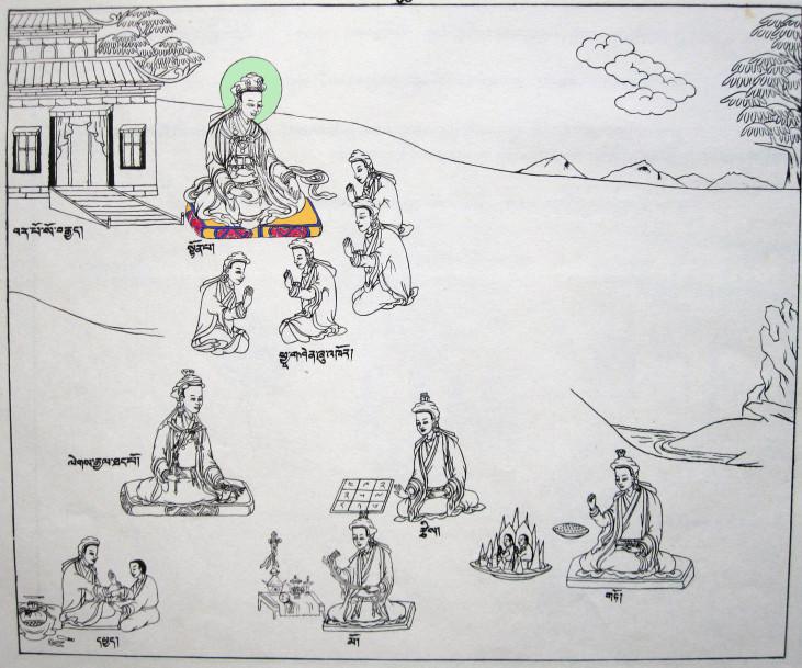 Tönpa Senrab tanít