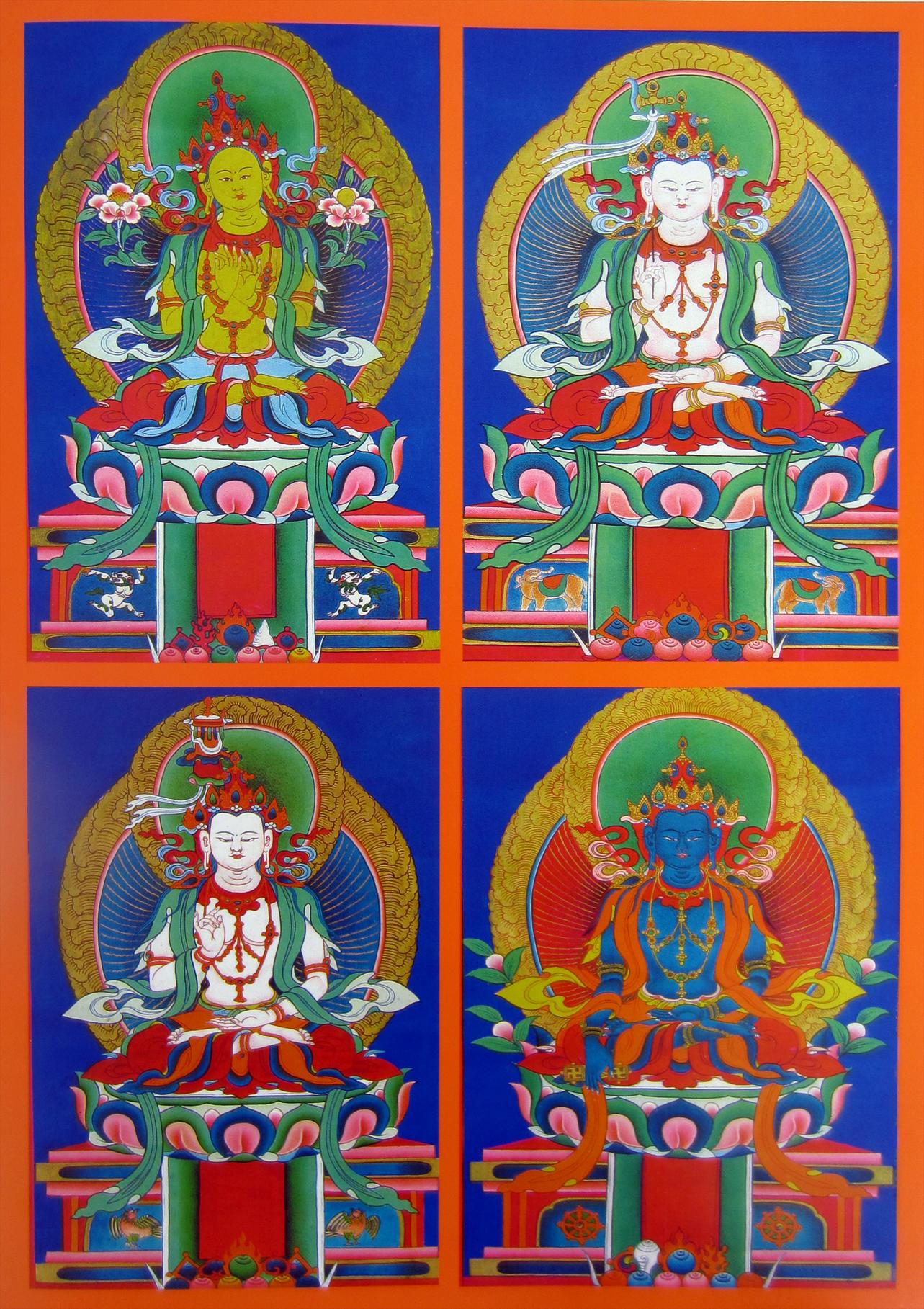 A négy derseg buddha